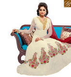 9005 BELA FASHIONS SURAT WHITE GEORGETE ANARKALI