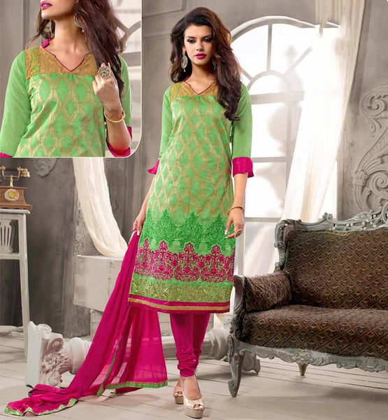 TREND of FEMALE fashion is changed; earlier KURTI STYLE STRAIGHT Cut & Short KAMEEZ was accepted by young, now it's adopted by all. Shop SALWAR SUITS from Our PUNJABI Collection