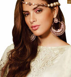 BROUGHT TO YOU BY STYLISH BAZAAR FASHIONABLE WHITE AND PINK KAMEEZ COMBINED WITH WHITE SALWAAAR AND DUPATTA  RTBUG9005