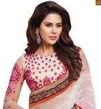 A STYLISH BAZAAR PRESENTATION CUTE FLOWERY DESIGNER SARI AND BLOUSE DESIGN RTBAJ9005