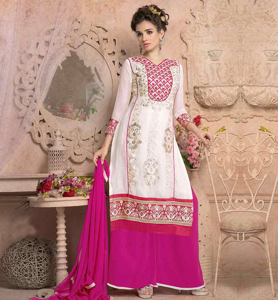 PALAZZO TROUSER UNSTITCHED SALWAR SUITS ONLINE SHOPPING FOR WOMEN