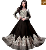 9005C AYESHA TAKIA BEAUTIFUL BLACK COLOR NAVIKA GOWN LOOK ANARKALI