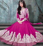 9005D AYESHA TAKIA NAVIKA BOLLYWOOD MOVIE STYLE RANI PINK ANARKALI OUTFIT
