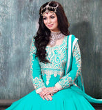 9005E AYESHA TAKIA NAVIKA FASCINATING FIROZI VINTAGE WEDDING ANARKALI DRESS
