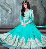 9005E AYESHA TAKIA NAVIKA FIROZI VINTAGE LOOK WEDDING ANARKALI APPAREL