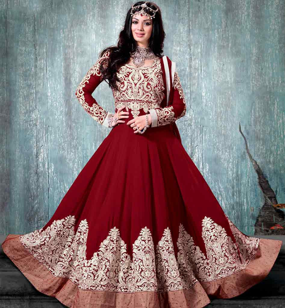 Funky Marriage Dress For Bride In Indian Image Collection - All ...