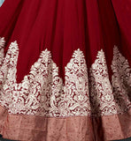 9005F Merron floor lenght wedding gown look anarkali