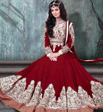 9005F NAVIKA AYESHA TAKIA MUGHAL PRINCESS LOOK MAROON WEDDING ANARKALI