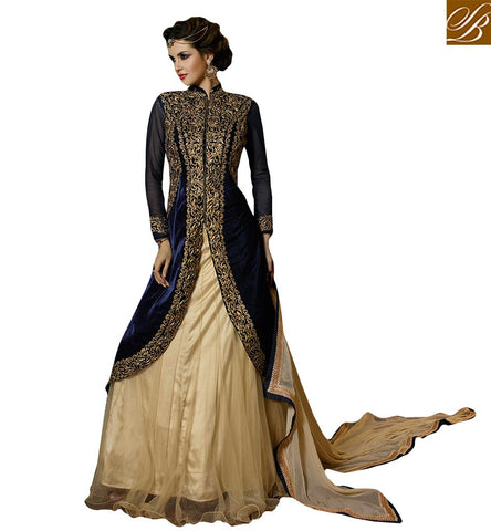 ROYAL DESIGNER BRIDAL WEAR KOTI STYLE GHAGHRA CHOLI GLS59005 BY STYLISH BAZAAR