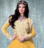9005b NAVIKA AYESHA TAKIA GOWN STYLE YELLOW ANARKALI DRESS