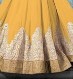 9005b lovely designer embroiedery work on wedding anarkali