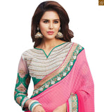 FROM STYLISH BAZAAR CHARMING PINK COLORED SAREE WITH HEAVY DESIGNER BLOUSE RTBAJ9006