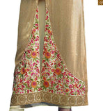 BROUGHT TO YOU SIGNIFICANT CREAM GEORGETTE DESIGNER SALWAR SUIT RTRIN9006