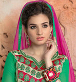 DRESS MATERIAL FOR INDIAN WOMEN WITH KAMEEZ, PLAZZO SALWAR AND DUPATTA