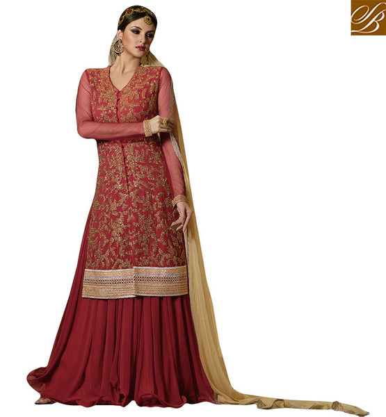 BEWITCHING DESIGNER ANARKALI STYLE SALWAAR SUIT FOR SPECIAL OCCASIONS GLS59006