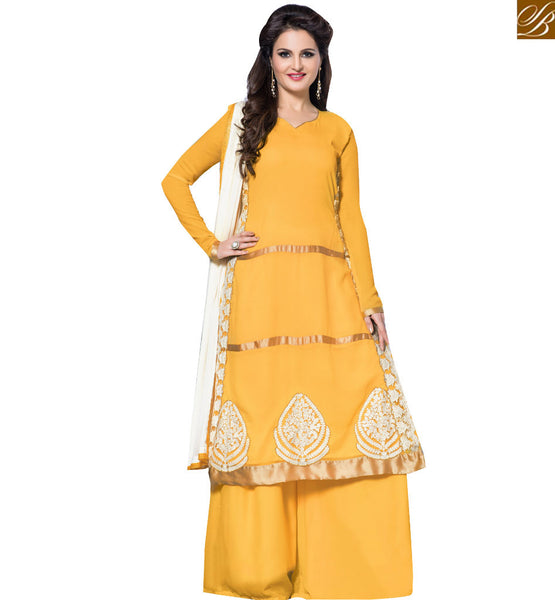 BROUGHT TO YOU BY STYLISH BAZAAR TV AND MOVIE ACTRESS MONICA BEDI BEWITCHING PLAZO DESIGN VDHNY9006