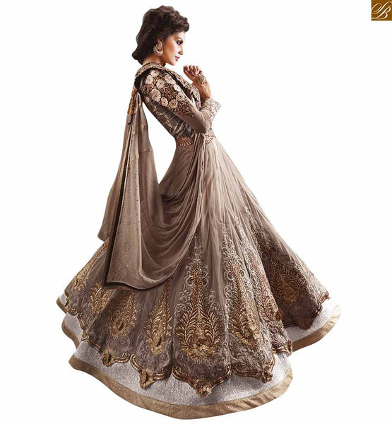 ZOYA ANARKALI IRRESISTIBLE NET EMBROIDERED SALWAR KAMEEZ WITH DUPATTA