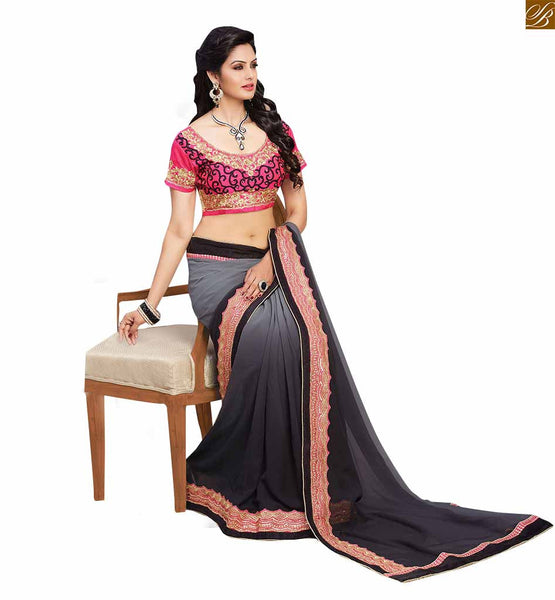 BROUGHT TO YOU BY STYLISH BAZAAR FASCINATING CASUAL WEAR SAREE BLOUSE DESIGN RTBAJ9007