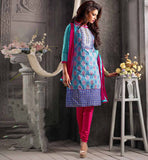 Craze Of Stylish Straight Cut In Short Kameez Is On Hike,  Now Its Ultimate Option For   Fashionable Ladies,  Buy Salwar Suits From Our Elegant Punjabi Collection.