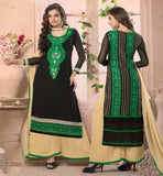 DESIGNER PLAZZO SALWAR WITH LONG PAKISTANI STYLE KAMEEZ AND DUPATTA