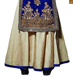 Blue velvet strength style top with pakistani style plazzo blue velvet top with mirror work and heavy hand work. Beige net jardosi and stone work with silk palazzo pant Pic