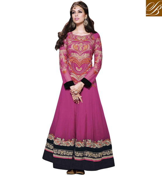 PLEASING PINK EUROPEAN GOWN STYLE DRESS RTNV9008 - stylishbazaar - online shopping for anarkali suits, online shopping for anarkali dress, online shopping of anarkali suits, online shopping anarkali dress, online shopping of anarkali dress