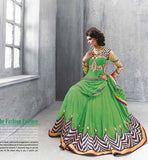 GLAMOROUS GREEN ANARKALI SALWAR KAMEEZ   Create a striking Entry anywhere with this attractive and Stunning Stylish Designer outfit.