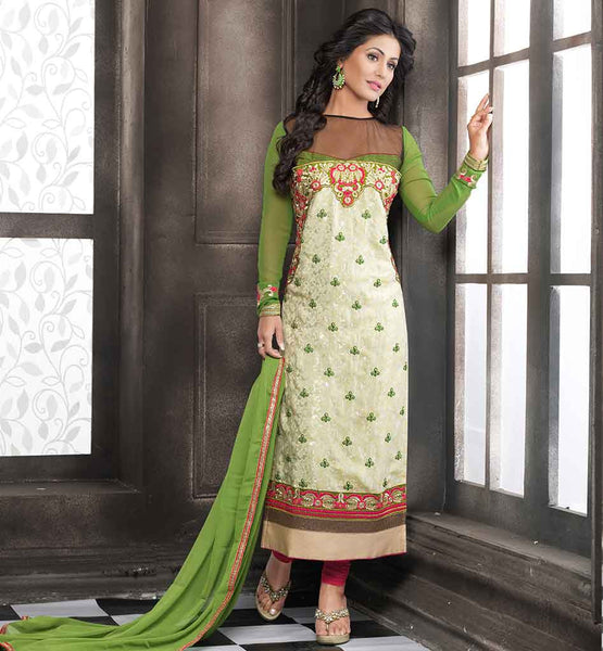 INDIAN TELEVISION HEARTTHROB HINA KHAN PAKISTANI LONG SALWAR KAMEEZ