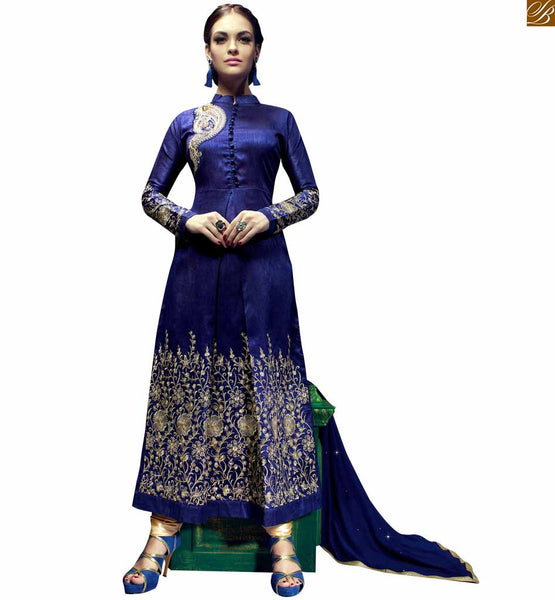 STYLISH BAZAAR ELEGANT ROYAL BLUE DESIGNER SALWAR KAMEEZ FOR PARTY WEAR RTRIN9009
