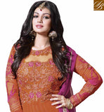 OUTSTANDING ORANGE AYESHA TAKIA GOWN STYLE SALWAR KAMEEZ DRESS RTNV9009 - stylishbazaar - Ayesha Takia, Designer Ayesha Takia, Ayesha Takia Collection, Ayesha Takia Anarkali Suits, Ayesha Takia Salwar Kameez, Bollywood Anarkali Dresses, Bollywood Dresses, Designer Bollywood Salwar Suits, Bollywood Anarkalis, Bollywood & Television Dresses