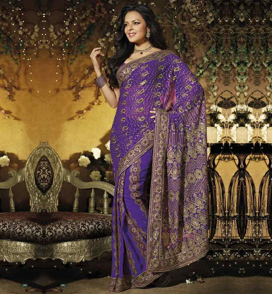 STRIKING GEORGETTE DESIGNER PARTY WEAR SAREE