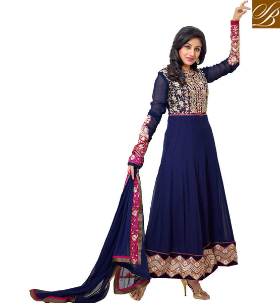 EVERSTYLISH PARTY WEAR ANARKALI SALWAR KAMEEZ SUITS WITH LACE WORK