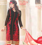 AWESOME PUNJABI SUIT WITH COTTON SALWAR AND NANZEEN ODHNI