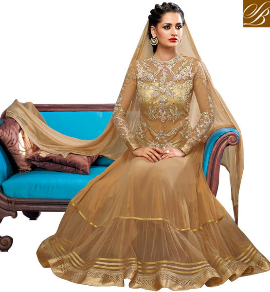 9011 BELA FASHIONS SURAT CHIKOO GEORGETTE WEDDING ANARKALI
