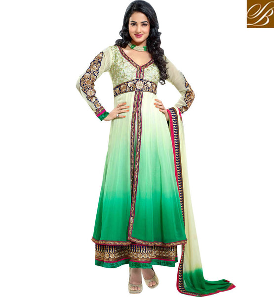 SHOP ONLINE LATEST SHADED PARTY WEAR ANARKALI SALWAR KAMEEZ SUITS