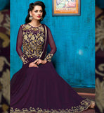 9012 BELA FASHIONS SURAT VIOLET ANARKALI DRESS