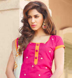 STYLISH CHANDERI COTTON PUNJABI SUIT