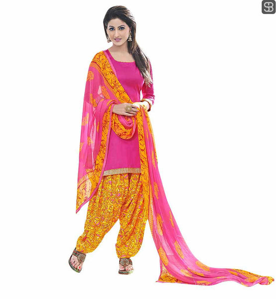 PUNJABI SALWAR KAMEEZ SUITS CELEBRITIES CHOICE BOLLYWOOD COLLECTION MOST LOVED TV CELEB AKSHARA IN PINK DRESS COMBINED WITH PRINTED SALWAR AND DUPATTA