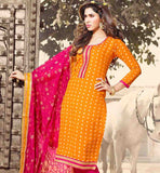 PUNJABI SUITS COOL CHANDERI COTTON DRESS MATERIALS ONLINE FOR LADIES