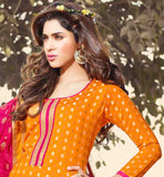 LOVELY ORANGE PUNJABI SUIT & NAZNEEN DUPATTA