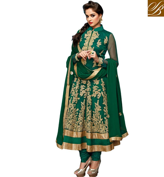 9015 BELA FASHIONS GREEN ANARKALI DRESS