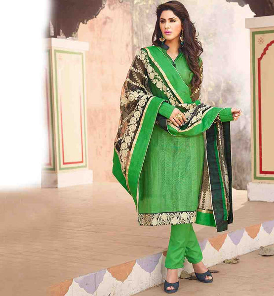 PUNJABI SUITS LATEST DESIGN & EXCELLENT EMBROIDERED NAZNEEN DUPATTA