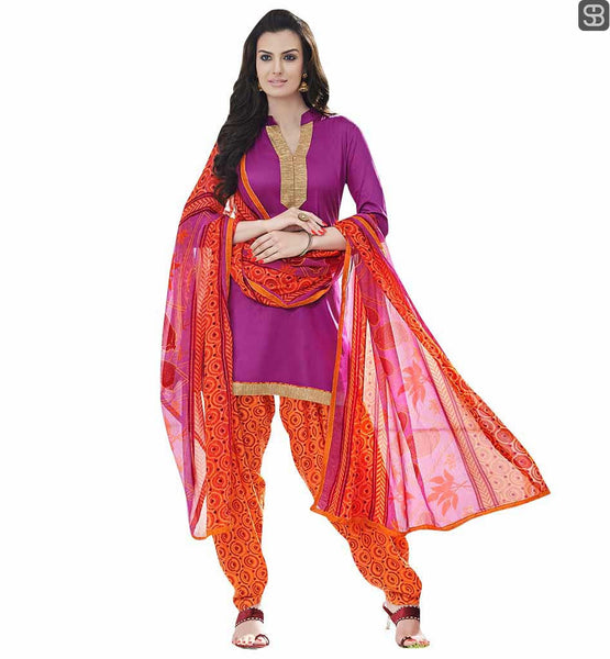 PATIALA SALWAR PATTERN ALONG WITH LATEST DESIGNS OF KAMEEZ INDIAN FASHION AT ITS BEST, DARK PINK KAMEEZ WITH PRINTED SALWAR AND DUPATTA