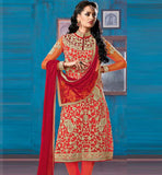 9017 ORANGE RED BELA FASHIONS SALWAR SUIT