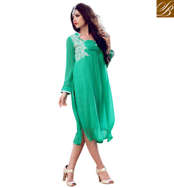STYLISH BAZAAR GORGEOUS INDIAN DESIGNER INDO-WESTERN STYLE KURTI FOR PARTIES RTBLM901