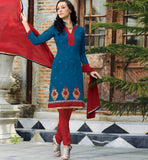 BLUE PURE CHANDERI SALWAR SUIT VDSIL9024