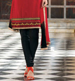 RED PURE CHANDERI SALWAR SUIT VDSIL9027