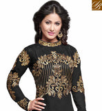 HEENA KHAN ALSO KNOWN AS AKSHARA IN BLACK EMBROIDERED ANARKALI