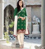 GREEN PURE CHANDERI SALWAR SUIT VDSIL9030