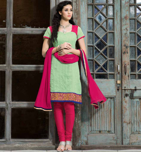 TRENDY PURE CHANDERI SALWAR SUIT VDSIL9032